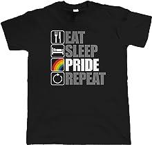 vectorbomb Eat Sleep Pride Repeat, LGBT Gay Pride Parade T Shirt