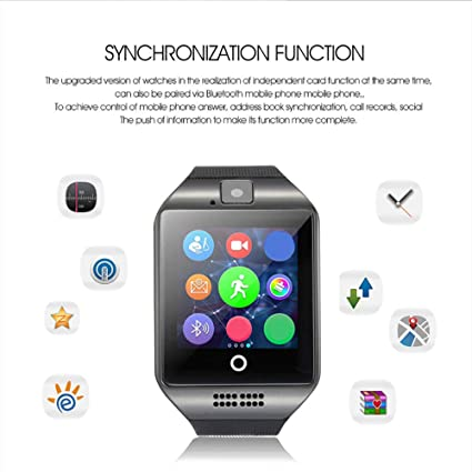 Amazon.com: ALZWZ Smart Watch, Curved Curved Screen Phone ...