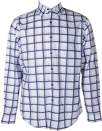 Tasso Elba Mens Windowpane-Print Shirt