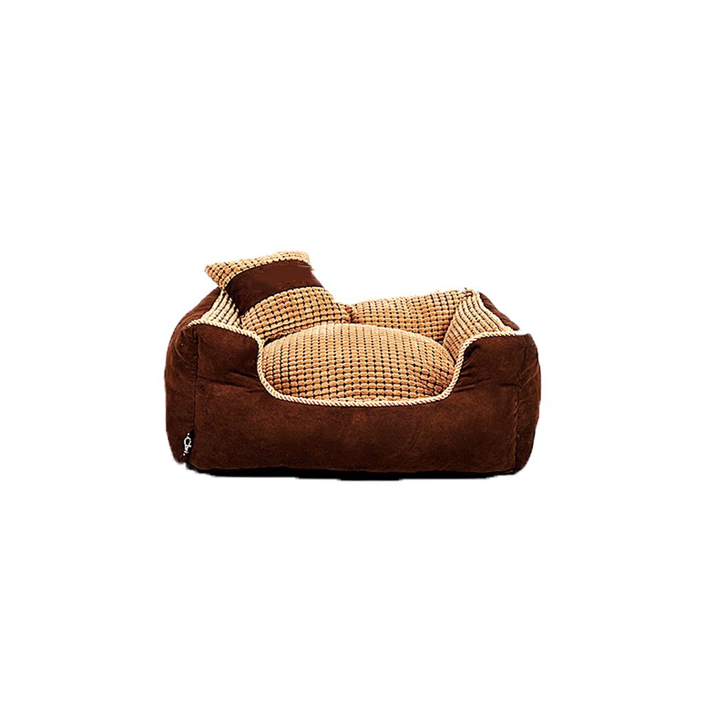 A 906826cmKennel GAOLILI Four Seasons Washable Teddy Jin Mao Pets Pug Dog Large Dog Bed Winter Supplies Sleeping Pad (color   A, Size   90  68  26cm)