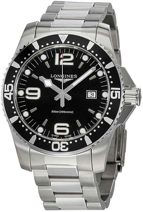Longines hydroconquest orologio da uomo quadrante nero l38404566