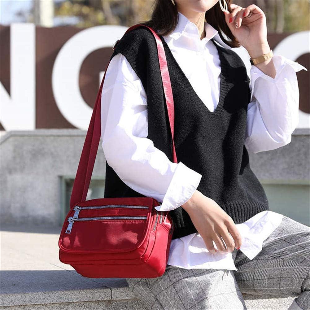 Trend Zipper Waterproof Nylon Shoulder Crossbody Nylon Bag
