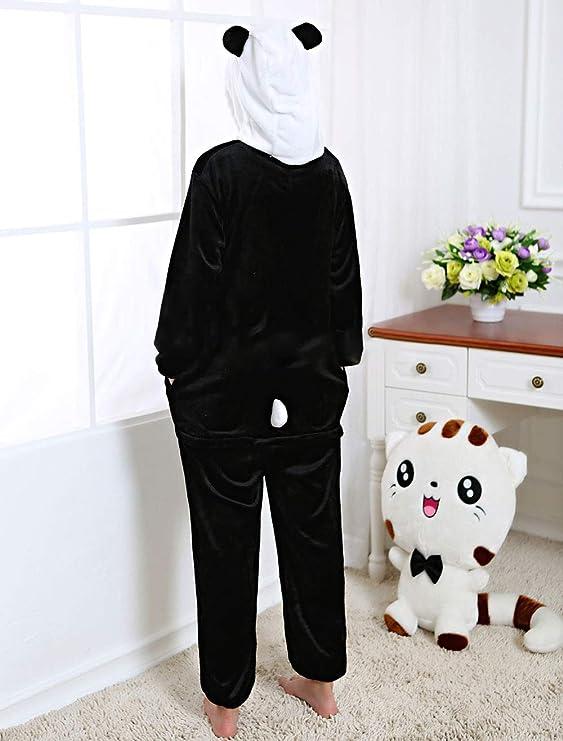 PIN Panda Costume Halloween Cosplay Kigurumi Onesie Adult Unisex Animal  Pajamas Lounge Wear Sleepsuit  Clothing e63ff0faf2582