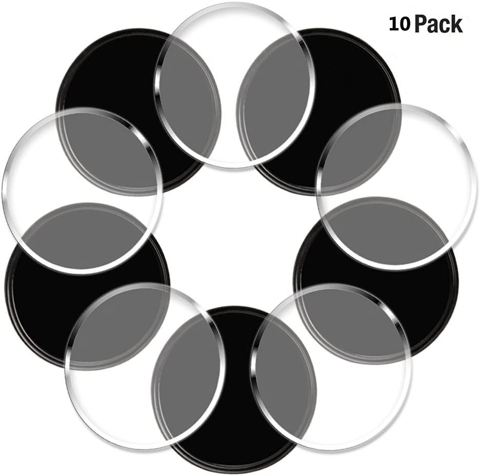 Mats Keys Easy Removal Adhere to Anywhere KEKU 10pcs Adhesive Gel Pad Non-Slip Gel Pad Portable Automatic Gel Base for Mobile Phones Round Black, White