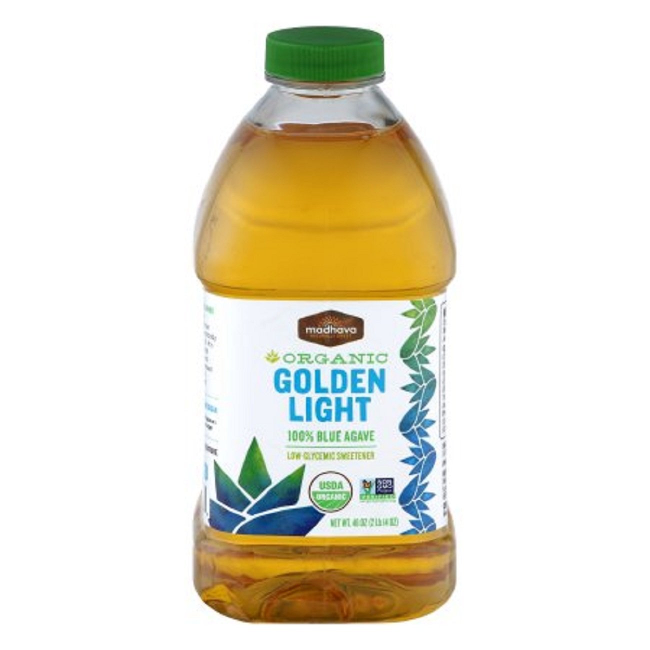 Natural Sweeteners Organic 100% Blue Agave Golden Light, 46.0 OZ