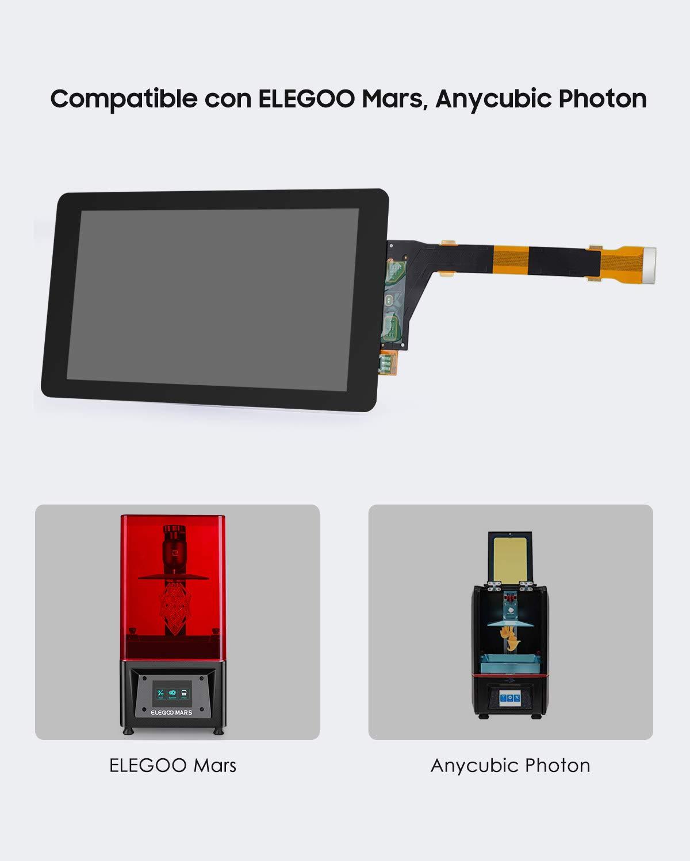 ELEGOO Pantalla LCD de 5.5 Pulgada de 2K para Impresora 3D MARS y ...