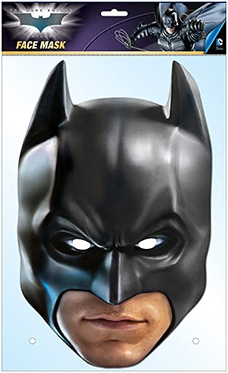 The Dark Knight - Batman Official The Card Face Mask: Amazon.es ...