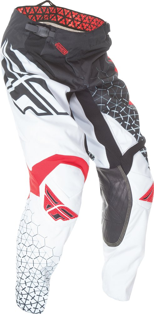Fly Racing Unisex-Adult Kinetic Trifecta Pants (Black/White/Red, Size 20)