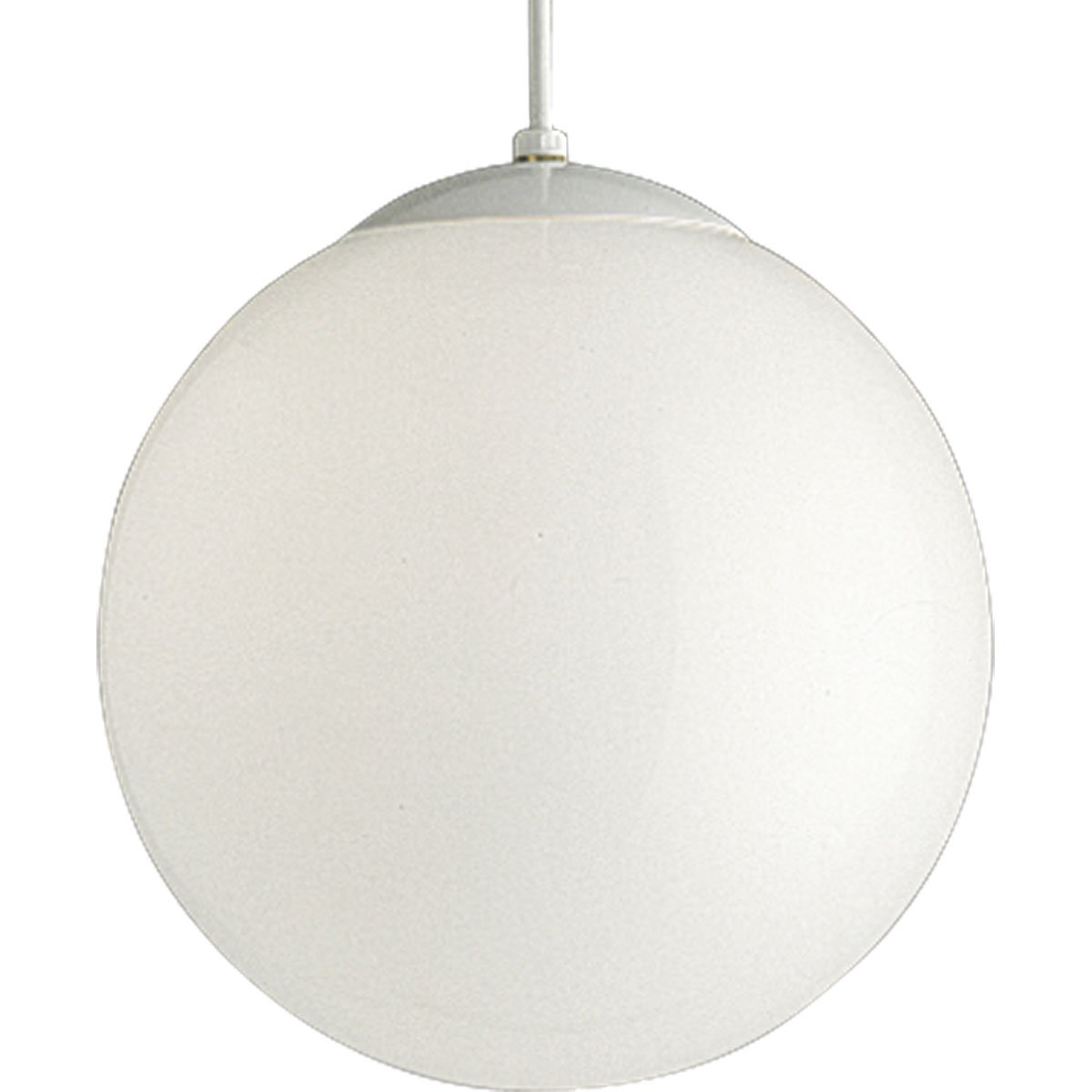 Progress Lighting P4403-29 Opal Cased Globes Provide Evenly Diffused Illumination White Cord, Canopy and Cap, Satin White by Progress Lighting