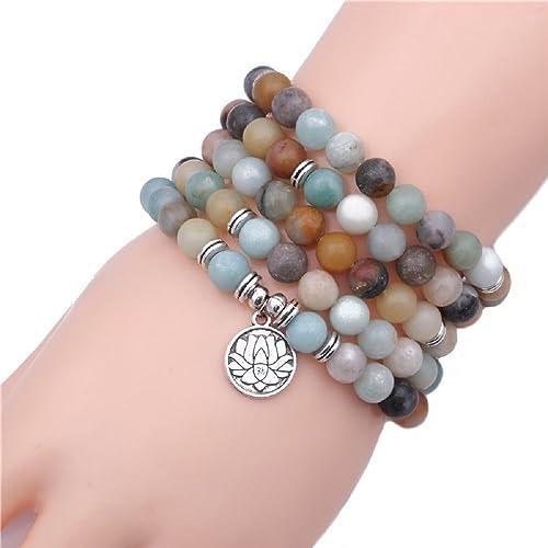Amazon.com: COLORFUL BLING Matte Frosted Buddha Yoga mala ...