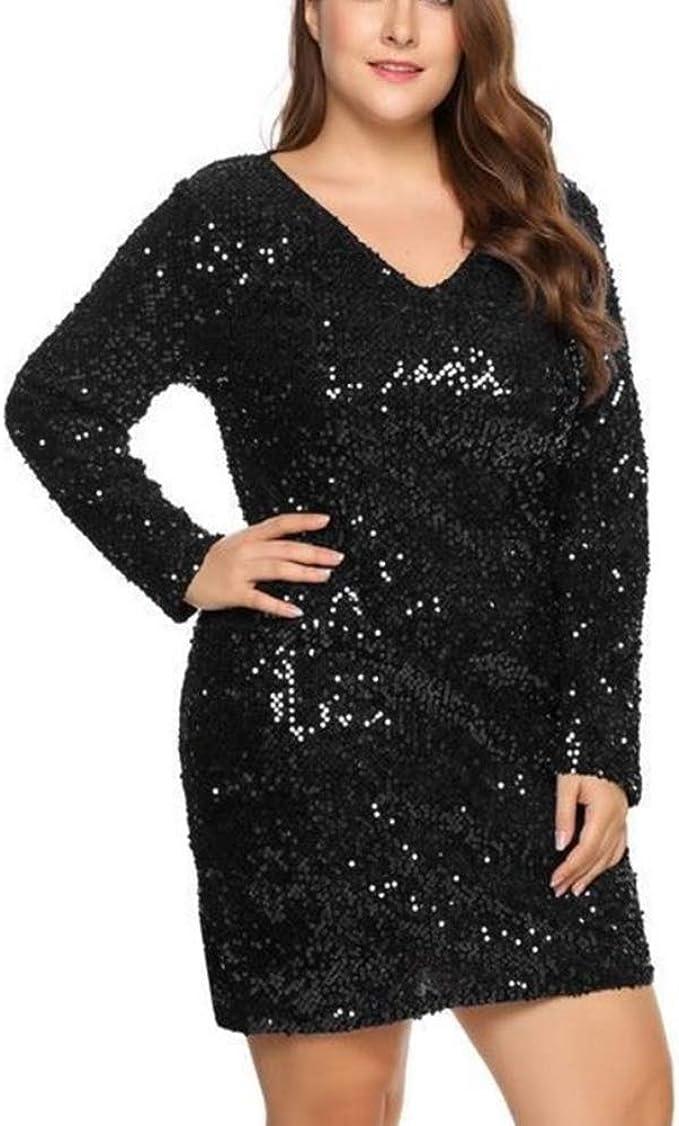 Mini vestido negro de lentejuelas