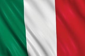 BANDIERA ITALIA ITALIANA TRICOLORE cm. 70 x 50 poly lucido acetato: Amazon.it: Giochi e giocattoli