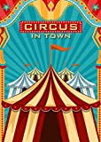 Art Studio Vinyl 5x7FT Carnival Circus In Town Photo Background Children Party Decoration Props Studio Photography Baby Shower Backdrops Booth