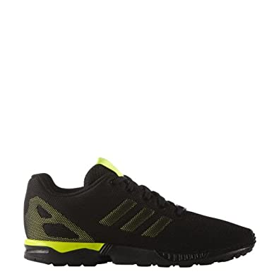 11e3a87cc adidas Boys Originals Junior Boys ZX Flux Trainers in Black Yellow - UK 6.5