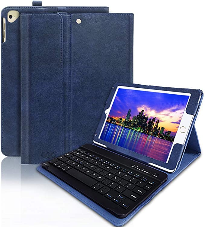 iPad Air 2/&1 Keyboard Case 9.7 inch Touchpad Bluetooth with Pencil Holder Compatible with iPad 2018 6th Gen,iPad Pro 2017 5th Gen iPad Air Case with Touchpad Keyboard Black iPad Pro 9.7