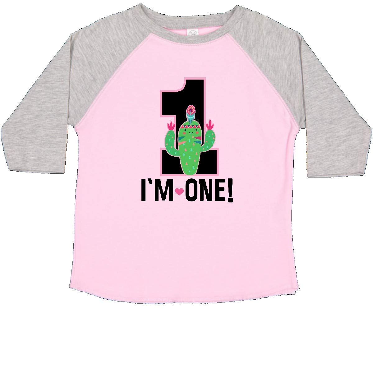 inktastic 1st Birthday Cactus Cute Girls 1 Year Old Toddler T-Shirt