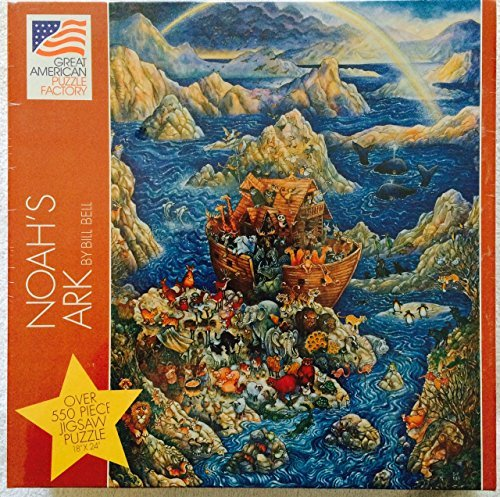 Noah's Ark By Bill Bell ~ 550 Piece Puzzle Vintage 1994 from Great American Puzzle Factory