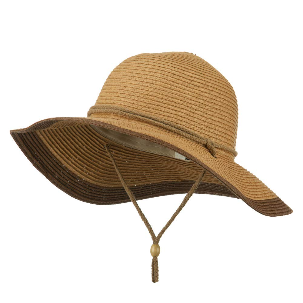 da27f579 Ladies Toyo Braid Chin Strap Sun Hat - Brown
