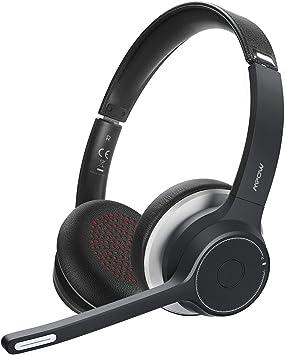 Mpow HC5 Auriculares Bluetooth con Micrófono, Auriculares Inalámbricos para Teléfono Móviles, Cascos con Batería de 22H, Cancelación de Ruido CVC 8.0, Llamadas Claras para Centro de Llamadas, Oficina: Amazon.es: Electrónica