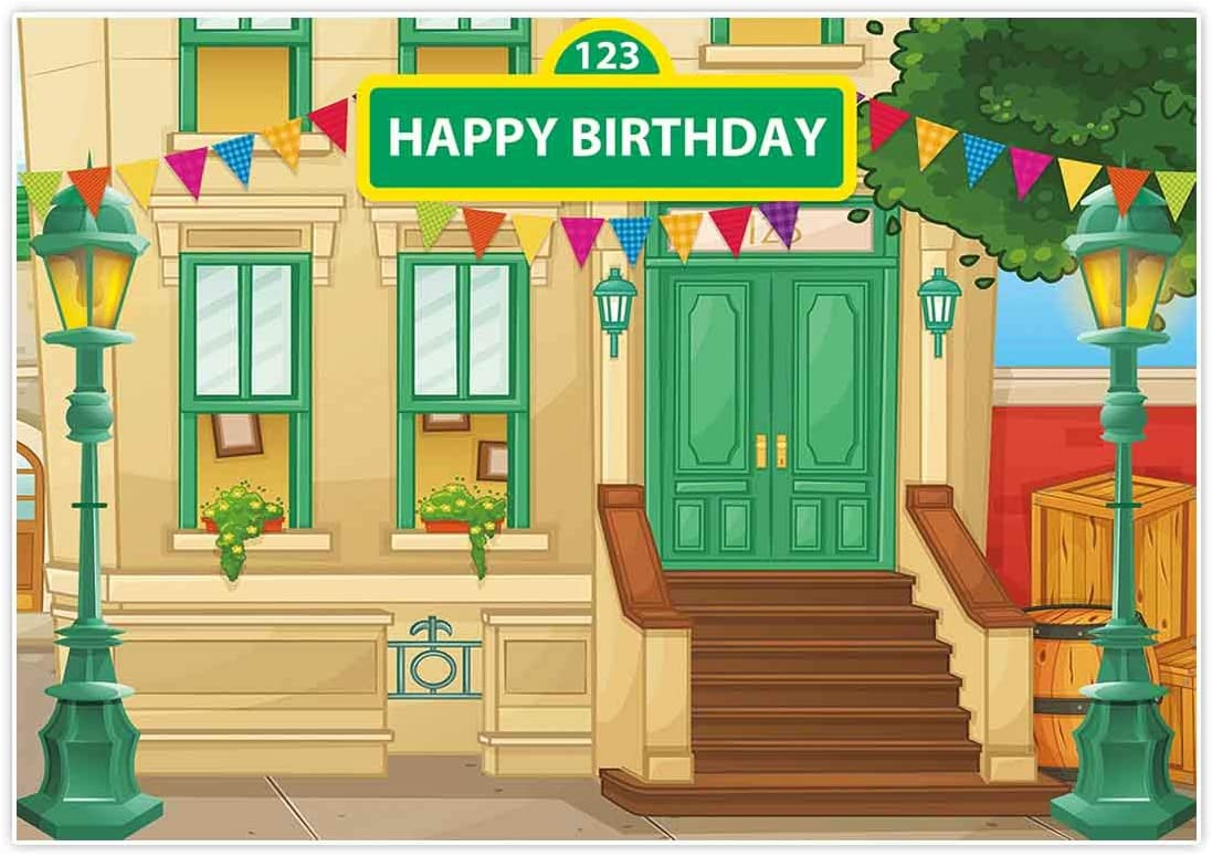 Allenjoy 7x5ft Cartoon Street A surprise price is realized Free shipping on posting reviews Backdrop Birthday Girl Par for Boy