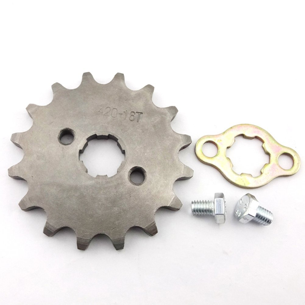 TC-Motor 420 16 Tooth 17mm Front Chain Sprocket Gear For 50cc 70cc 90cc 110cc 125cc 140cc 150cc 160cc Engine ATV Quad Pit Dirt Trail Bike