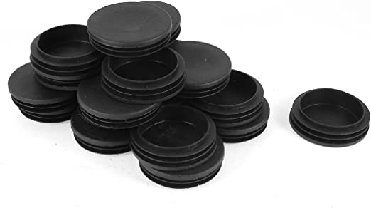 uxcell Plastic Round Blanking End Cap Tubing Inserts 60mm Dia 30 Pcs Black