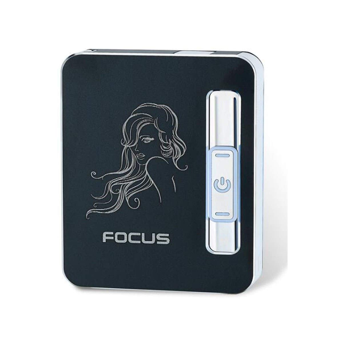 Gaoxingbianlidian Cigarette Case: Portable Aluminum Cigarette Pack can Hold 10 Cigarettes, Suitable for Smokers' Creative and Windproof Personalized Cigarette Packs, Multi-Color Optional