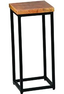 Grande sellette en palissandre et métal laqué noir - Dim : L 36,5 x ...