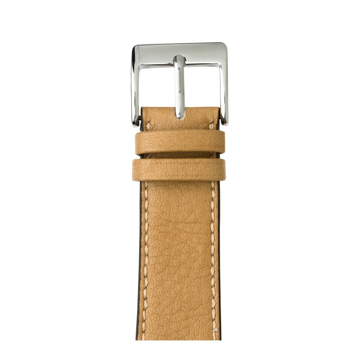 Roobaya | Premium Sauvage Leather Apple Watch Band in Sand | Includes Adapters matching the Color of the Apple Watch, Case Color:Stainless Steel, Size:42 mm