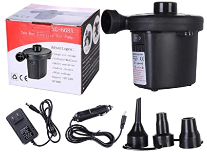 ELECTRIC AIR PUMP INFLATOR FOR CAMPING INFLATABLE AIRBED MATTRESS SOFA BALL BOAT