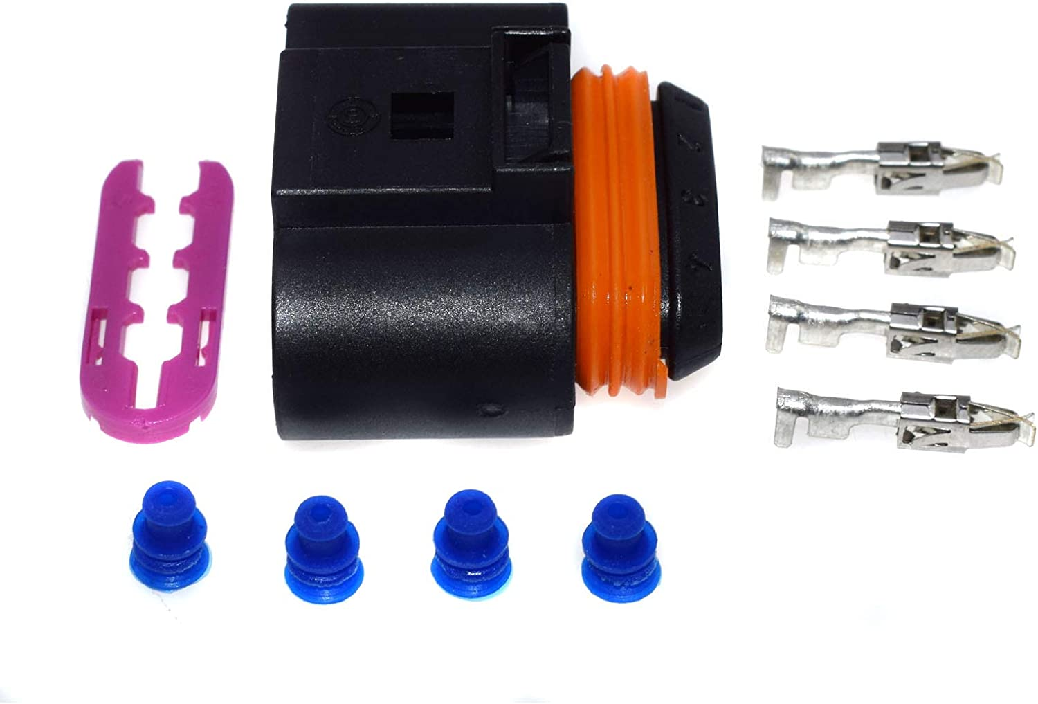 1J0973724 KUNFINE 4PCS//Lot Ignition Coil Connector Plug Repair Kit ForAudi A4 A6 rs4 rs6 a8 Cable Adapter 1J0 973 724