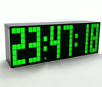 Yosoo Reloj Grande LED Alarma Tiempo Relojes Digital Cuenta Atrás Adelante Reloj con Controlador Remoto (