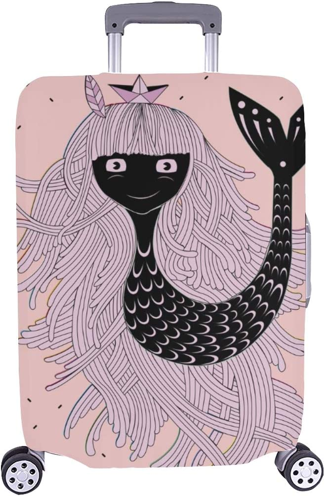 Abstract Mermaid Spandex Trolley Case Travel Luggage Protector Suitcase Cover 28.5 X 20.5 Inch