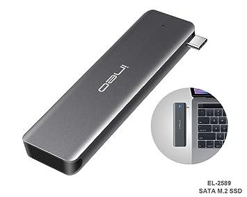 ElecGear USB 3.1 Gen2 Caja de Carcasa para SATA M.2 SSD, EL ...