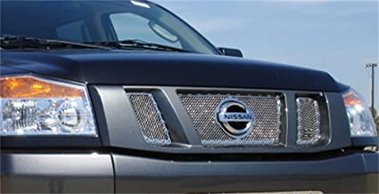 TRex Grilles 6717810 Small Mesh Stainless Polished Finish XMetal Grille Insert for Nissan Titan T REX
