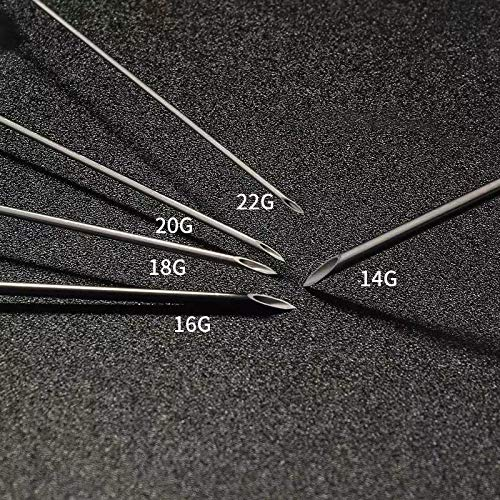 2021NEWEST Piercing Needles, SHZDMH Mix 10pcs 14G 16G 18G 20G 22G Gauge Catheter Needles for Lip Tongue Piercing Tattoo Supply