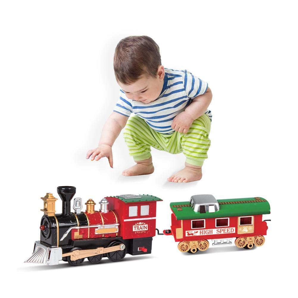 per Bambini cavalcabile Miju Trenino Elettrico Luce e Simula Il Suono del Treno Reale Trenino Giocattolo Controllo remoto Trenino brio