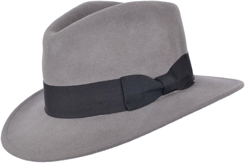 Cappello Fedora 100/% lana da uomo o donna con fascia in grosgrain Trilby Panama tipo cappelli