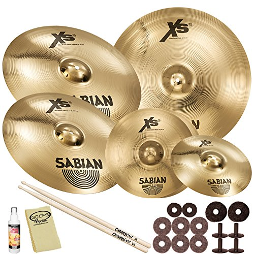 Sabian XS5007SB-Kit01  Xs20 Super Set with ChromaCast Accessories (B8 Crash Sabian Pack)