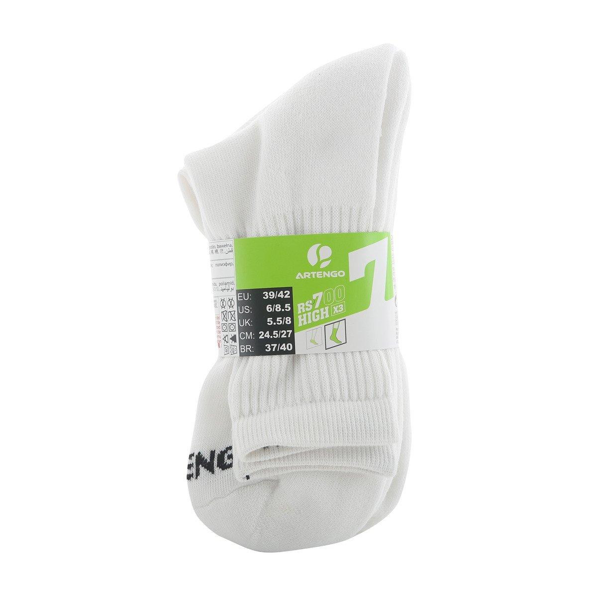 X de Sports Artengo Unisex Comfort Tenis Bádminton Calcetines de 3 Pack White - Calcetines para hombre, Weiß Lang: Amazon.es: Deportes y aire libre