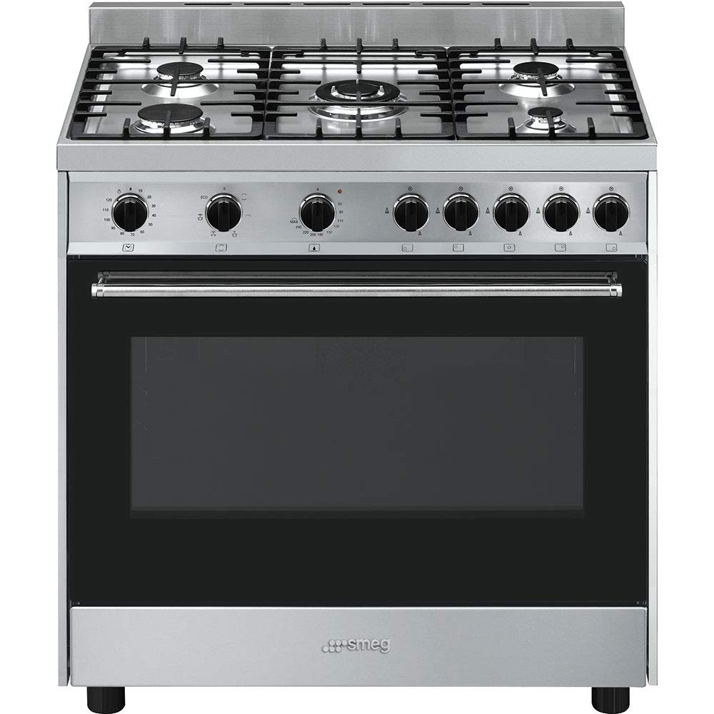 Smeg B90GMXI9 - Cocina (Cocina independiente, Negro, Acero ...