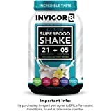 INVIGOR8 - Nutritional Shake & Green Superfood (100% Grass Fed Whey), 645 Grams, (French Vanilla)