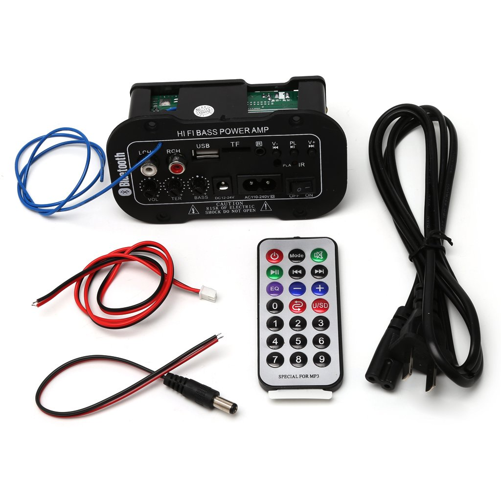 GROOMY 25W Car Bluetooth Subwoofer Hi-Fi Amplificatore per Basso Audio TF USB 220V / 12V / 24V