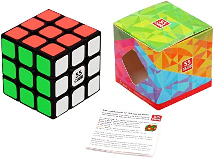 Little Treasures Red Star Shaped Speed Cube 3x3x3 Stickerless Magic Cube Puzzle