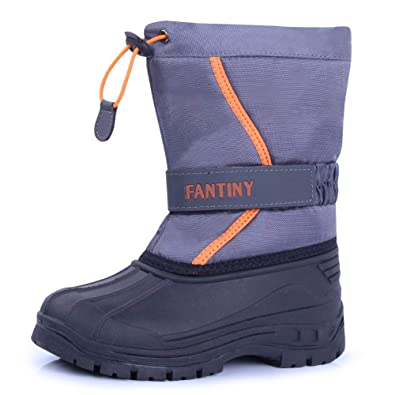 945b629895d CIOR Fantiny Snow Boots Winter Outdoor Waterproof with Fur Lined for Girls    Boys (Toddler