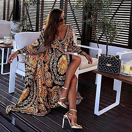 Vestido Nuevo_2019 Nuevo Vestido con Escote en V Profundo y Sexy ...