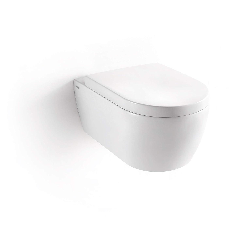 Soho Hanging Wall Toilet WC Rimless Brilliant White Toilet Seat