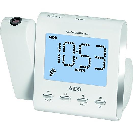 AEG Despertador Proyector MRC4122 Blanco - Vendedores Amazon ...
