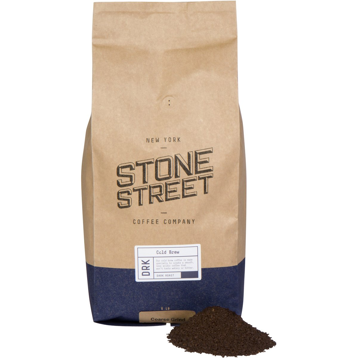 Stone Street Coffee Cold Brew Reserve Colombian Single Origin Coarsely Ground Coffee - 5 lb. Bag - Dark Roast by Stone Street Coffee