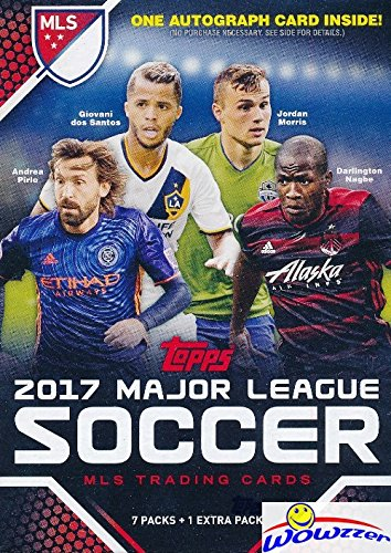 Mls Soccer Trading Cards - 2017 Topps MLS Major League Soccer EXCLUSIVE Factory Sealed Retail Box with AUTHENTIC MLS AUTOGRAPH Card & 8 Packs! Look for Cards & Autographs of Sebastian Giovinco, Graham Zusi & Many More! WOWZZER!